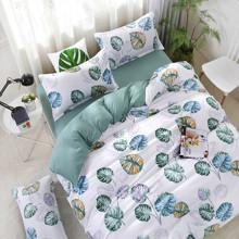 Уценка (дефекты)! Комплект постельного белья Лист монстеры (двуспальный-евро) (код товара: 49670)