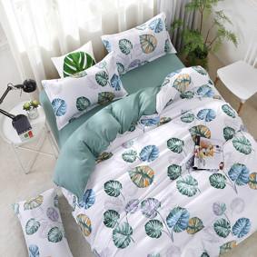 Уценка (дефекты)! Комплект постельного белья Лист монстеры (двуспальный-евро) (код товара: 49670): купить в Berni