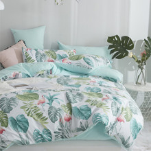 Уценка (дефекты)! Комплект постельного белья Тропический рай (двуспальный-евро) (код товара: 49675)