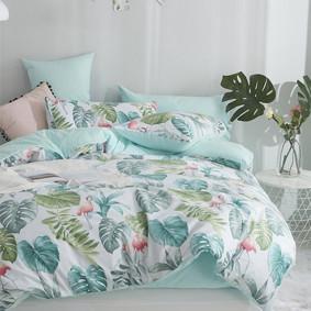 Уценка (дефекты)! Комплект постельного белья Тропический рай (двуспальный-евро) (код товара: 49675): купить в Berni