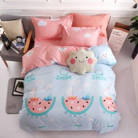Уценка (дефекты)! Комплект постельного белья Улыбка (двуспальный-евро) (код товара: 49667): купить в Berni