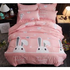 Уценка (дефекты)! Комплект постельного белья Зайка (полуторный) (код товара: 49643): купить в Berni