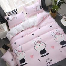 Уценка (дефекты)! Комплект постельного белья Зайка (двуспальный-евро) (код товара: 49702)