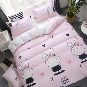 Уценка (дефекты)! Комплект постельного белья Зайка (двуспальный-евро) (код товара: 49702): купить в Berni