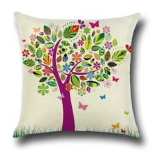 Наволочка декоративная Дерево с бабочками 45 х 45 см (код товара: 49839)