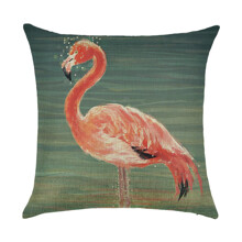 Наволочка декоративная Фламинго в воде 45 х 45 см (код товара: 49893)