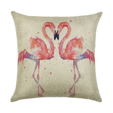 Наволочка декоративная Влюбленные фламинго 45 х 45 см (код товара: 49892)