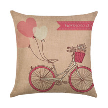 Наволочка декоративная Розовый велосипед 45 х 45 см (код товара: 49932)