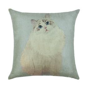 Наволочка декоративная Пушистая кошка 45 х 45 см (код товара: 50043): купить в Berni