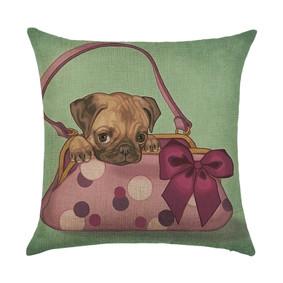 Наволочка декоративная Щенок в сумке 45 х 45 см (код товара: 50046): купить в Berni