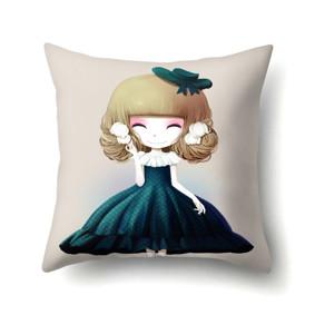 Наволочка декоративная Девочка и колокольчики 45 х 45 см (код товара: 50106): купить в Berni