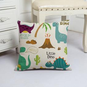 Наволочка декоративная Маленькие динозавры 45 х 45 см (код товара: 50123): купить в Berni