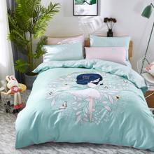 Уценка (дефекты)! Комплект постельного белья Девочка (двуспальный-евро) (код товара: 50592)
