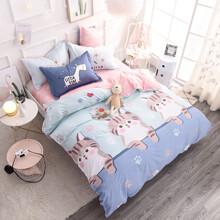 Уценка (дефекты)! Комплект постельного белья Котята (двуспальный-евро) (код товара: 50595)