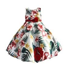 Платье для девочки Цветок папоротника оптом (код товара: 50608)