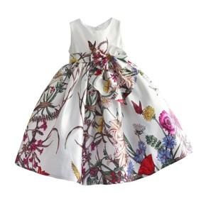 Платье для девочки Полевые цветы, белый (код товара: 50601): купить в Berni