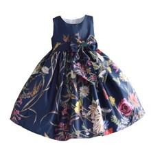Платье для девочки Полевые цветы, синий (код товара: 50600)