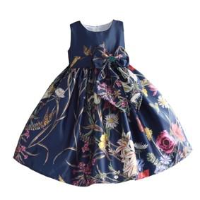 Платье для девочки Полевые цветы, синий (код товара: 50600): купить в Berni