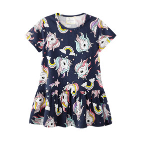 Платье для девочки Радуга и единорог (код товара: 50695): купить в Berni