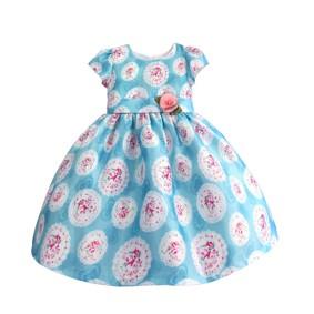 Платье для девочки Розы, голубой (код товара: 50603): купить в Berni