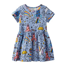 Платье для девочки Единорог в космосе (код товара: 50709)