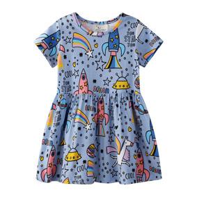 671f60976 Платье для девочки Единорог в космосе (код товара: 50709): купить в Berni