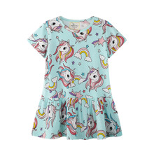 Платье для девочки Радуга и единорог (код товара: 50705)
