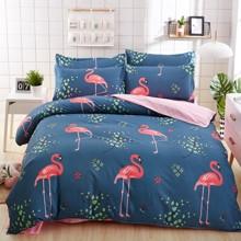 Уценка (дефекты)! Комплект постельного белья Большой фламинго (двуспальный-евро) (код товара: 50746)