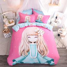 Уценка (дефекты)! Комплект постельного белья Девочка и магнолия (двуспальный-евро) (код товара: 50735)