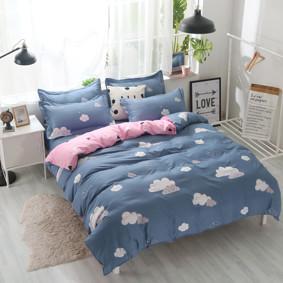 Уценка (дефекты)! Комплект постельного белья Облако с простынью на резинке (полуторный) (код товара: 50718): купить в Berni