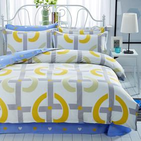 Уценка (дефекты)! Комплект постельного белья Сердечко (двуспальный-евро) (код товара: 50714): купить в Berni