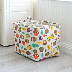 Уценка (дефекты)! Корзина для игрушек, белья, хранения Совы в лесу (код товара: 50774): купить в Berni