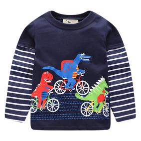 Уценка (дефекты)! Кофта для мальчика Динозавры на велосипедах (код товара: 50857): купить в Berni