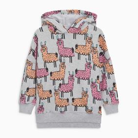 Уценка (дефекты)! Кофта с капюшоном для девочки Лама оптом (код товара: 50938): купить в Berni