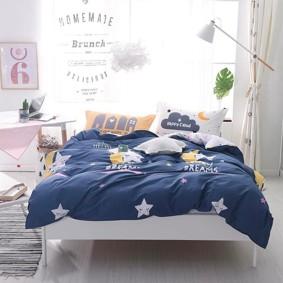 Уценка (дефекты)! Комплект постельного белья Следуй за своими мечтами (полуторный) (код товара: 50994): купить в Berni