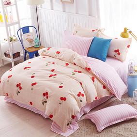 Уценка (дефекты)! Комплект постельного белья Вишня (полуторный) (код товара: 50990): купить в Berni