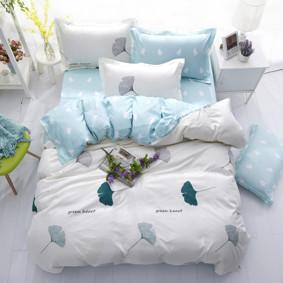 Уценка (дефекты)! Комплект постельного белья Зеленое сердце (евро) (код товара: 50964): купить в Berni