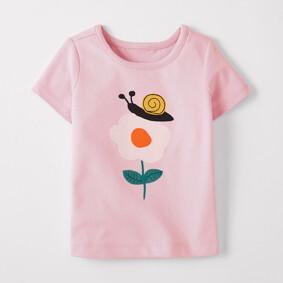 Уценка (дефекты)! Футболка для девочки Улитка на цветке (код товара: 51090): купить в Berni