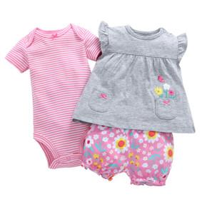 Уценка (дефекты)! Комплект для девочки 3 в 1 Цветочки оптом (код товара: 51054): купить в Berni