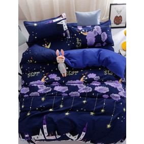 Уценка (дефекты)! Комплект постельного белья Ночь (полуторный) (код товара: 51080): купить в Berni
