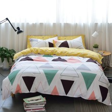 Уценка (дефекты)! Комплект постельного белья Треугольники (полуторный) (код товара: 51060)