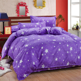 Уценка (дефекты)! Комплект постельного белья Звезды (двуспальный-евро) оптом (код товара: 51081): купить в Berni