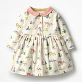 Уценка (дефекты)! Платье для девочки Животные оптом (код товара: 51047): купить в Berni