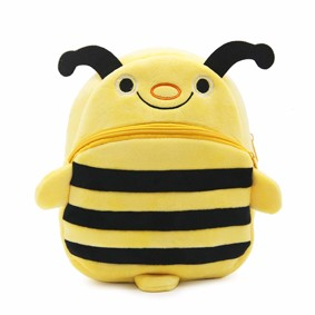 Уценка (дефекты)! Рюкзак велюровый Пчелка оптом (код товара: 51099): купить в Berni