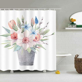 Уценка (дефекты)! Штора для ванной Букет цветов 180 х 180 см оптом (код товара: 51094): купить в Berni