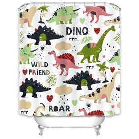 Уценка (дефекты)! Штора для ванной Динозавры 180 х 180 см оптом (код товара: 51095): купить в Berni