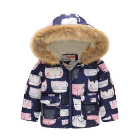 Демисезонная куртка для девочки Белый кот в очках (код товара: 51147): купить в Berni