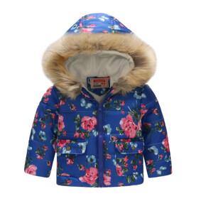 Демисезонная куртка для девочки Бутоны алых роз (код товара: 51143): купить в Berni