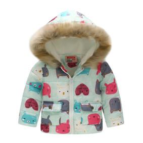 Демисезонная куртка для девочки Мордочки зверьков (код товара: 51144): купить в Berni