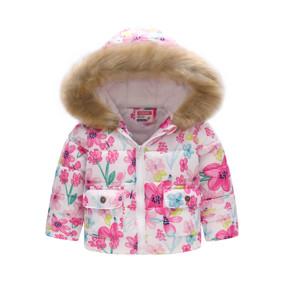 Демисезонная куртка для девочки Весенние цветы (код товара: 51150): купить в Berni